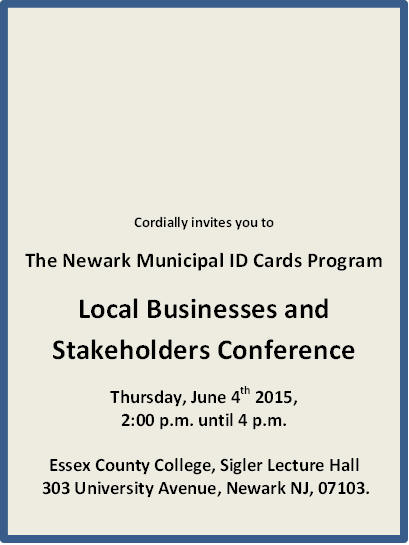 Newark Municipal ID Card Event
