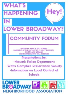 LBNA Community Forum 4-6-17 Flyer