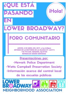 LBNA Community Forum 4-6-17 Flyer_SPANISH