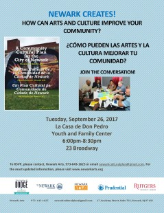 Newark Creates_Community Conversation LaCasadeDonPedro