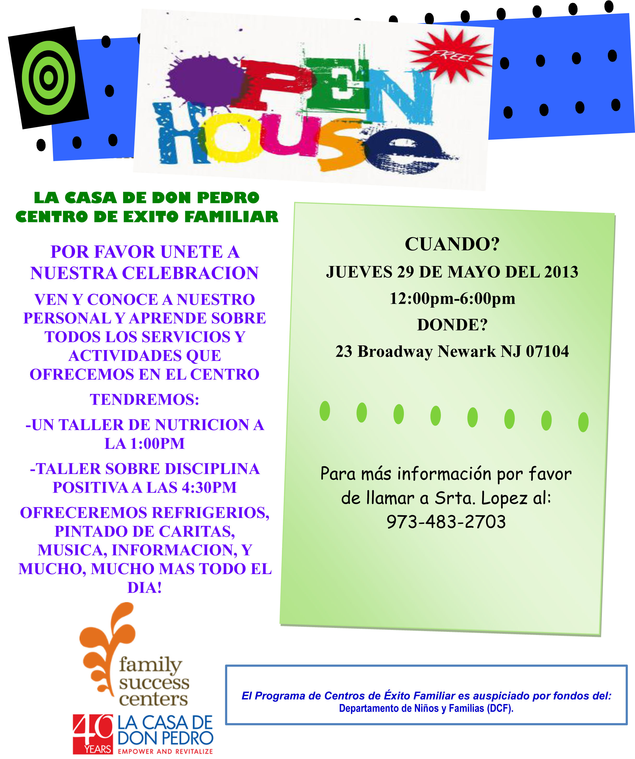 family success center open house celebration la casa de