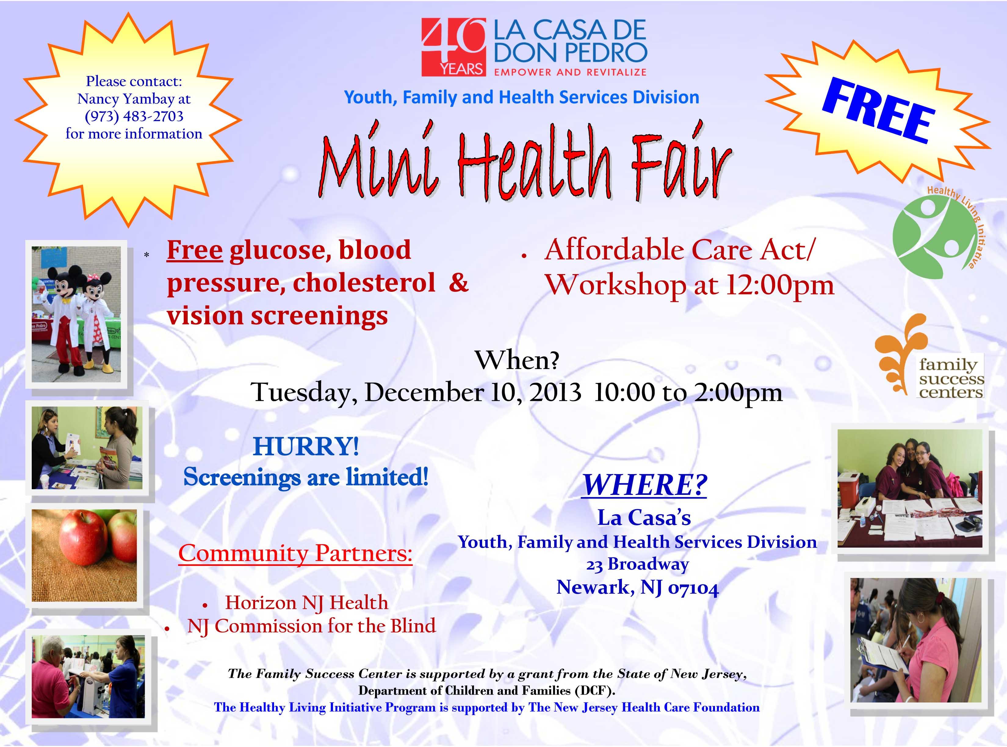 Health Fair « La Casa de Don Pedro